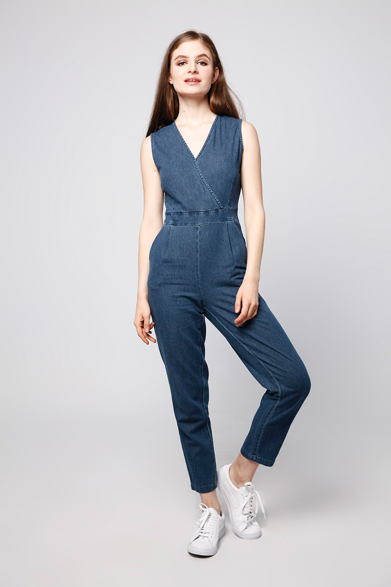 DOMN DENIM JUMPSUIT DARK BLUE