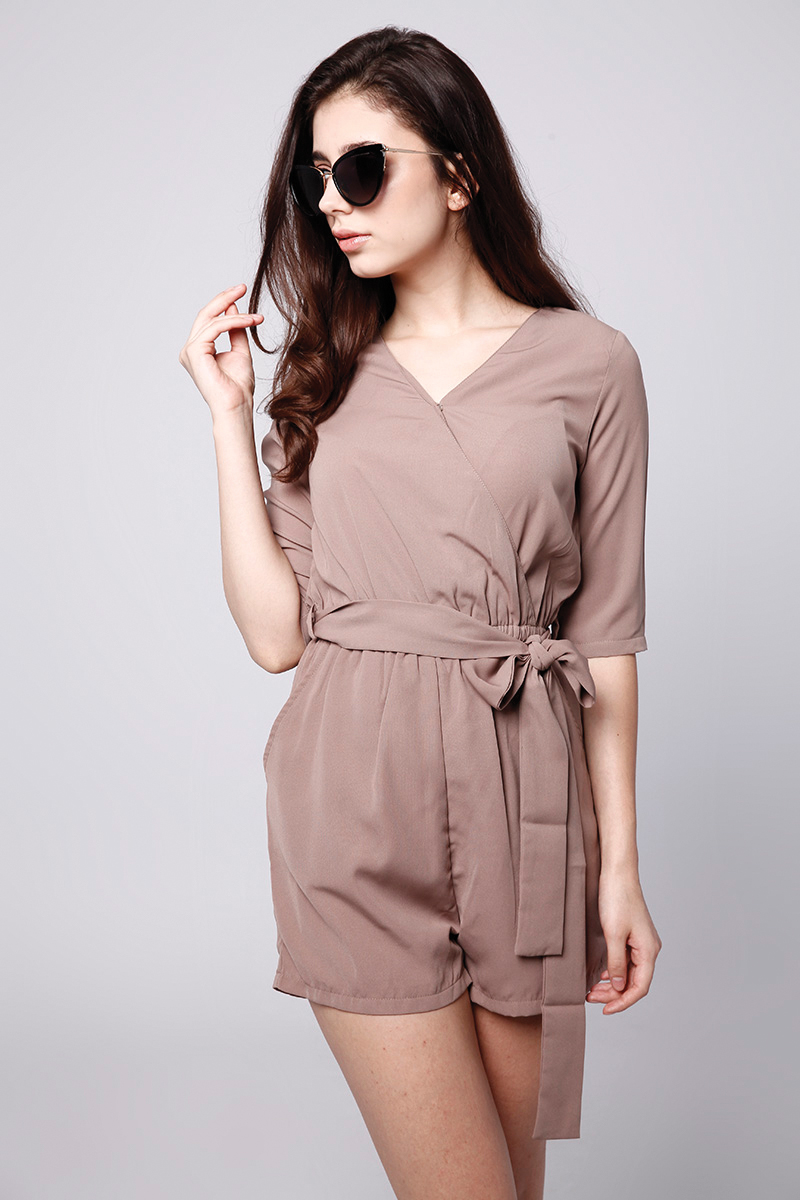 KARA JUMPSUIT BROWN