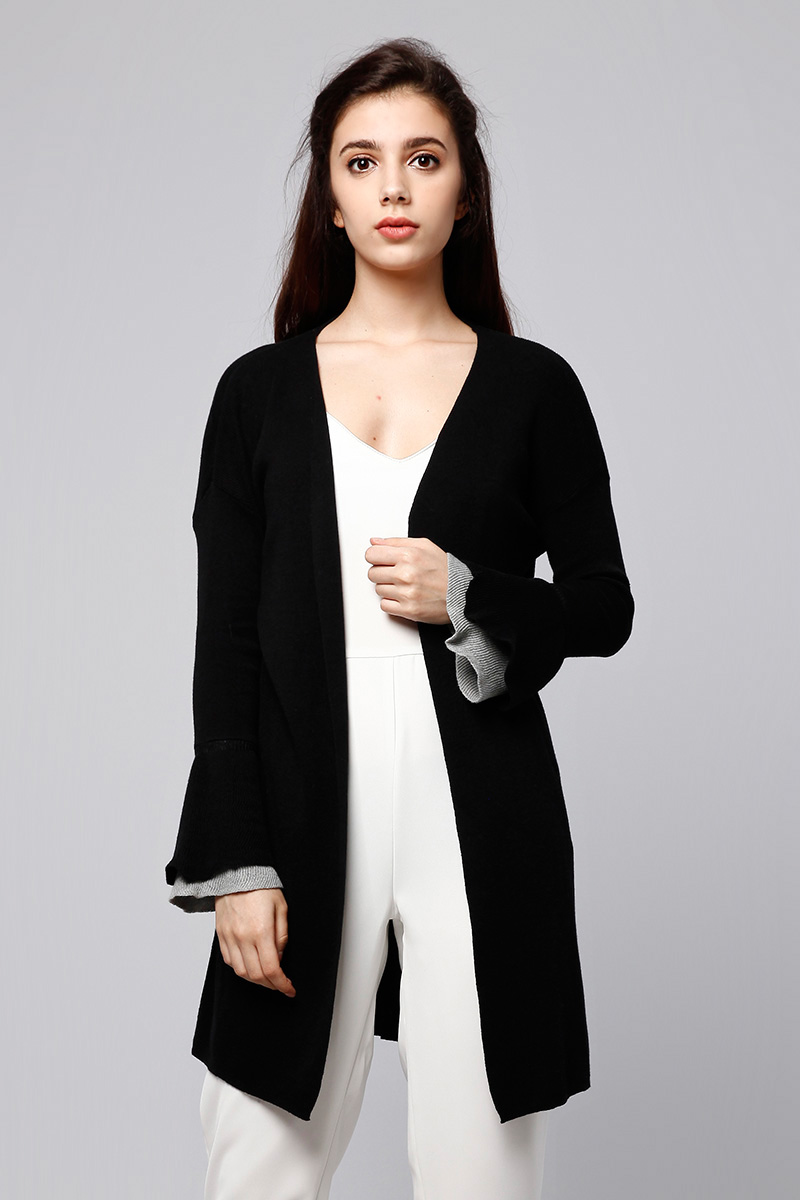 BELL OUTER KNIT BLACK