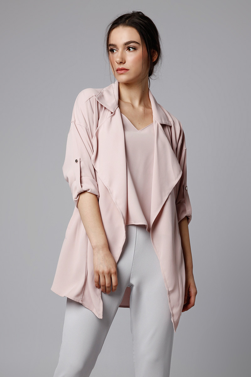 ABEL OUTER DUSTY PINK