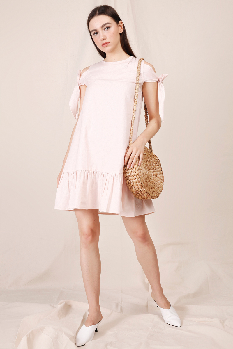 LENA DRESS DUSTY PINK