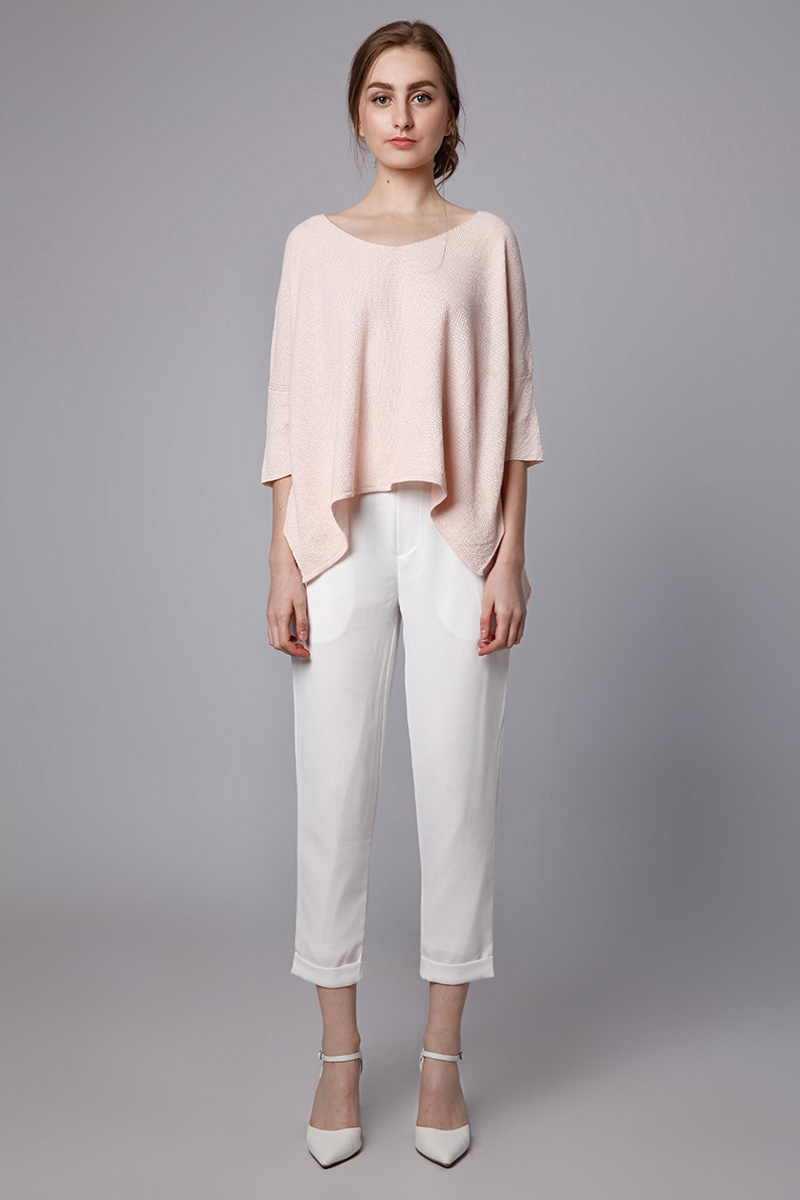 LEO KNIT TOP BABY PINK