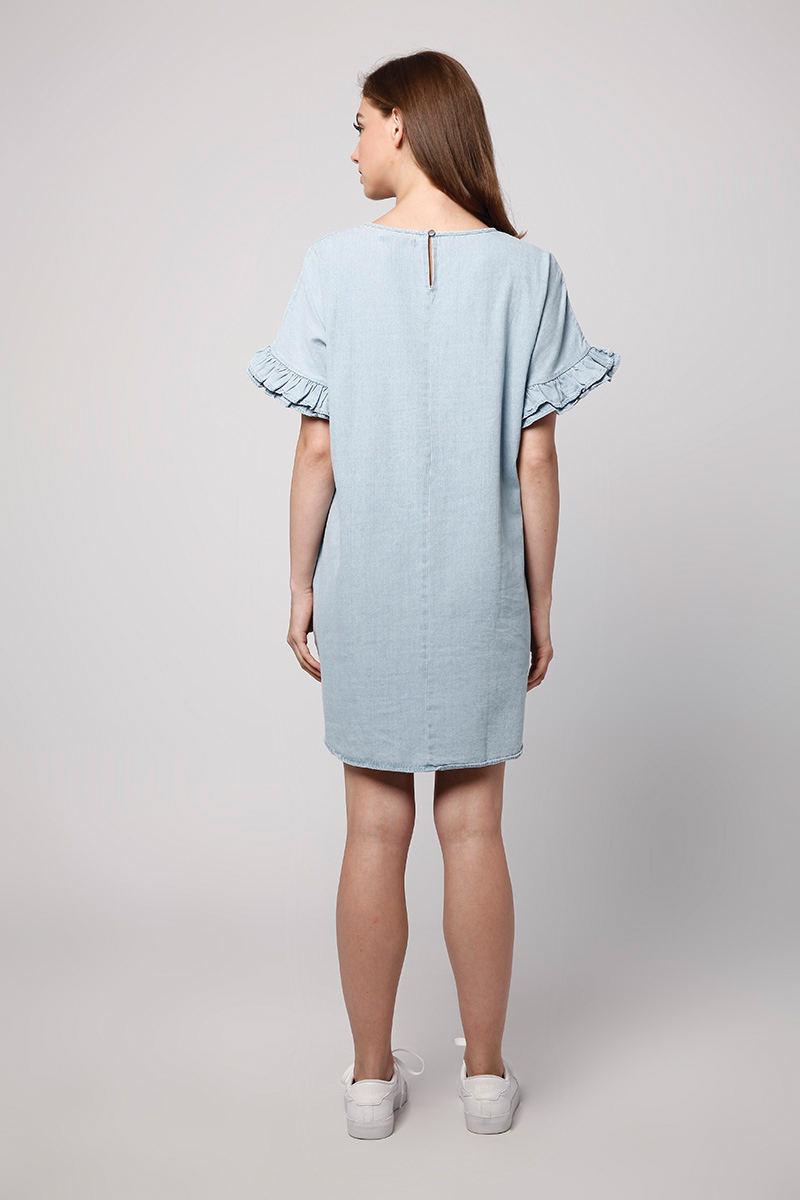 MIO DENIM DRESS LIGHT BLUE