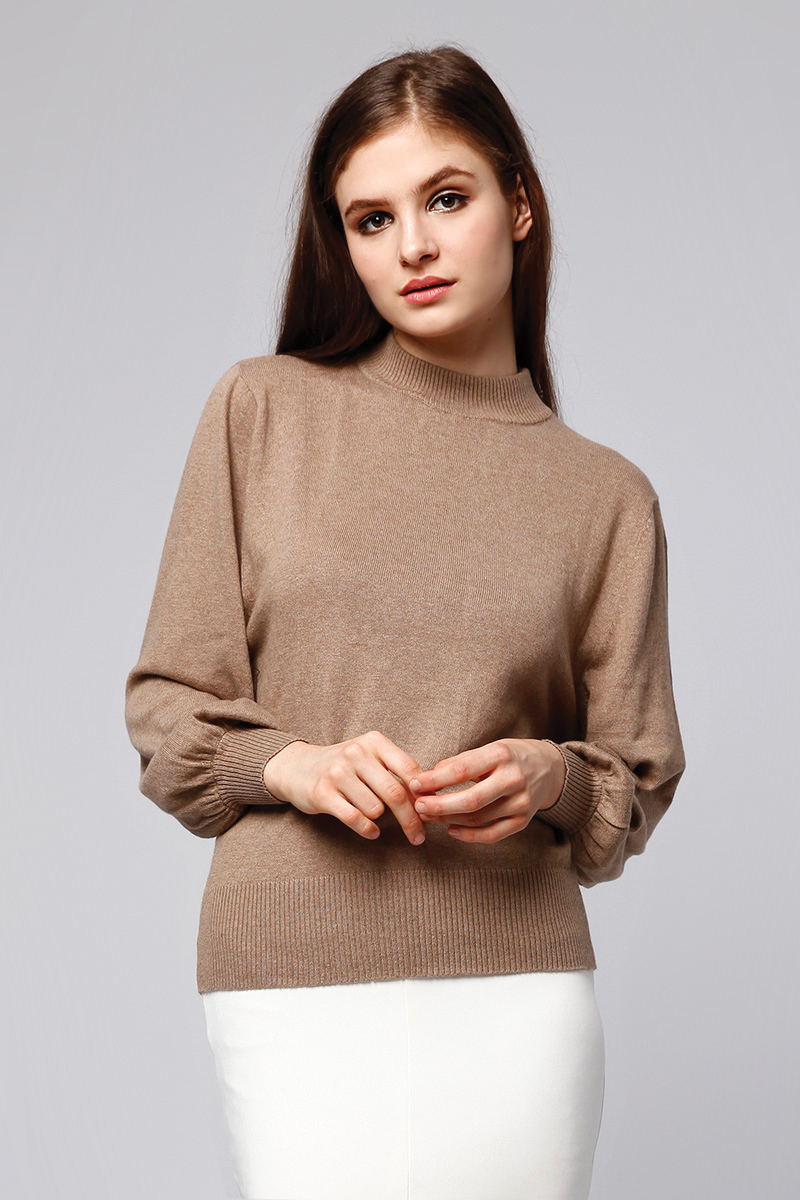 MOANA KNIT TOP BROWN