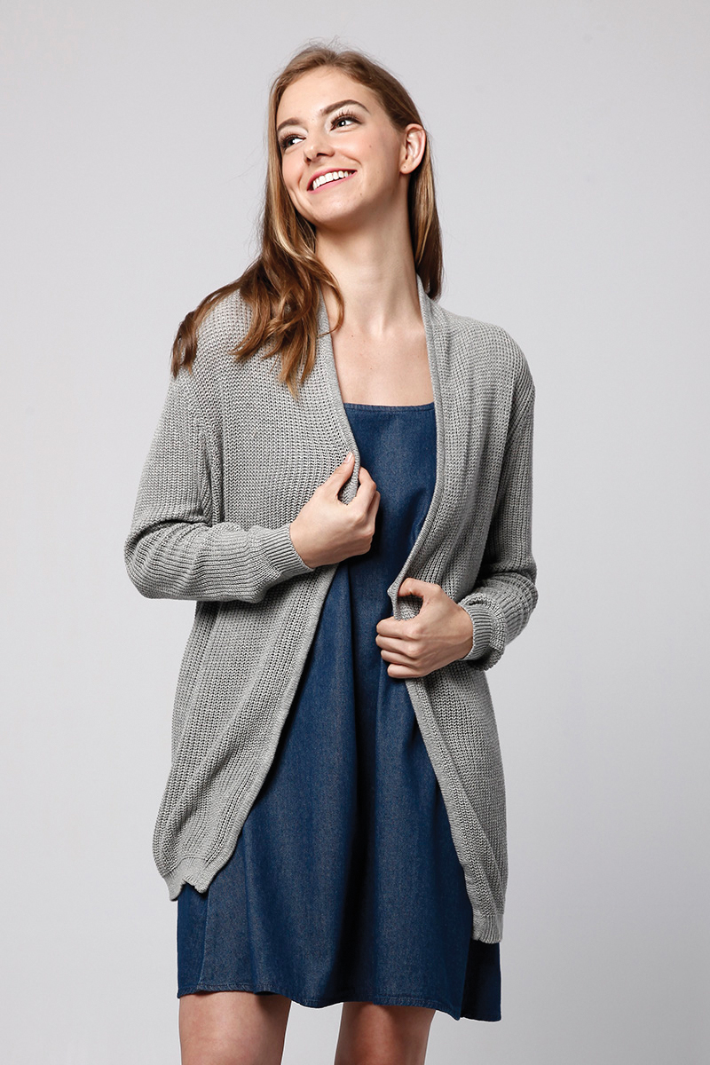 MOANE KNIT OUTER GREY