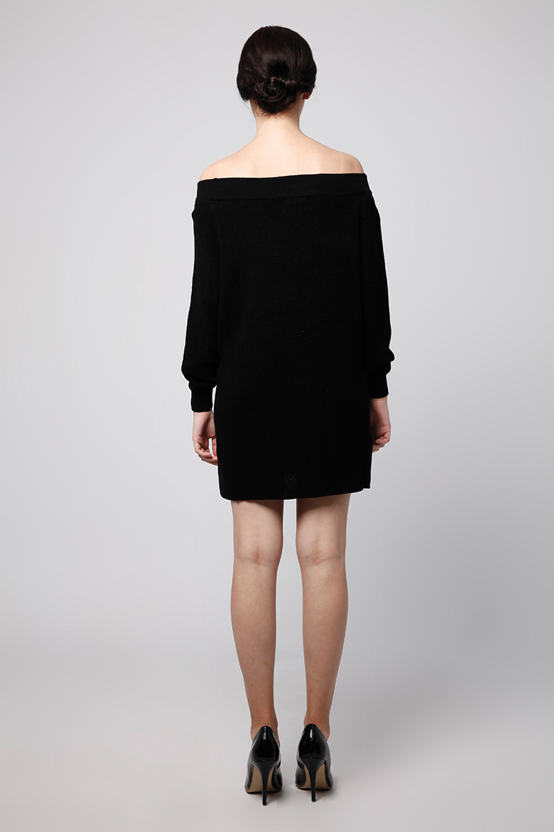MOLUNA KNIT DRESS BLACK