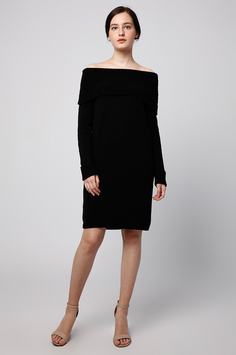 SABRINA KNIT DRESS BLACK