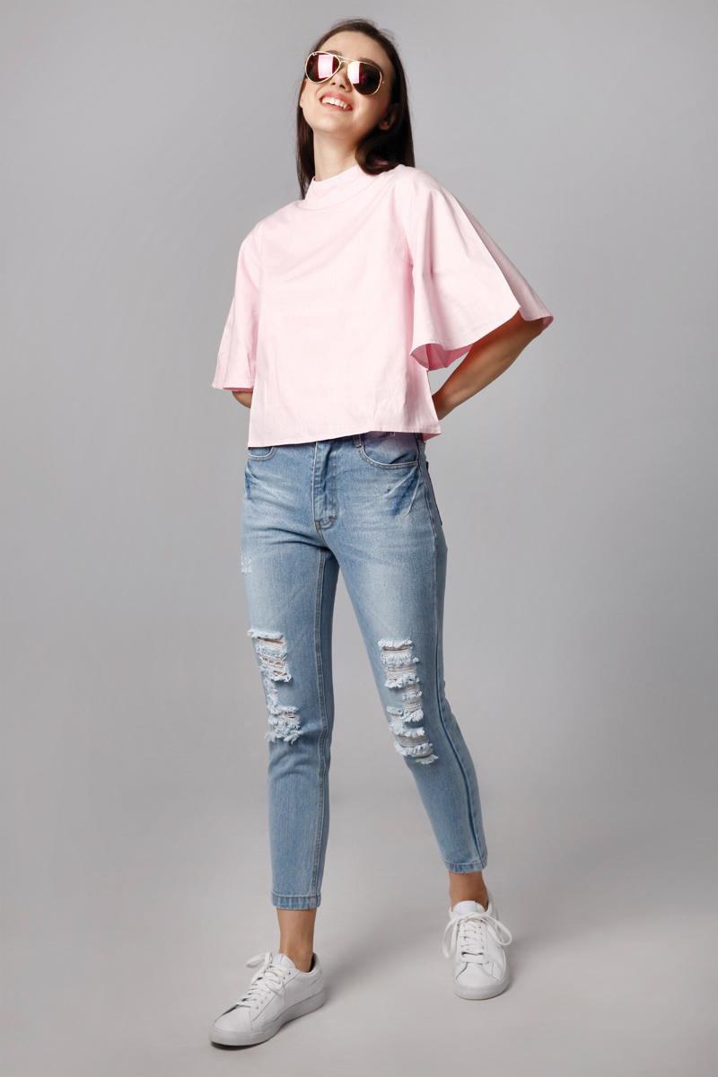 TORY TOP BABY PINK
