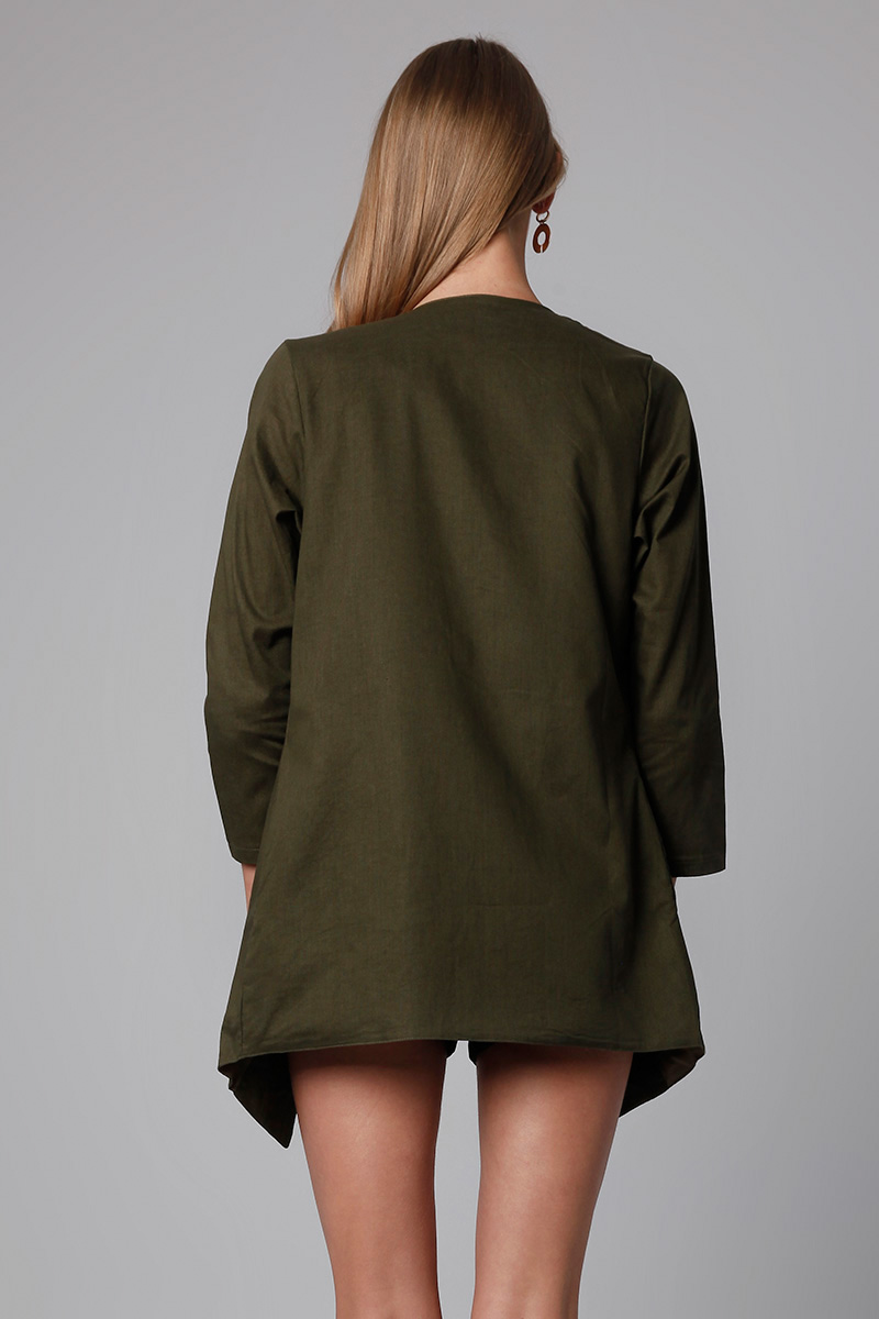 ARNA LINEN OUTER ARMY