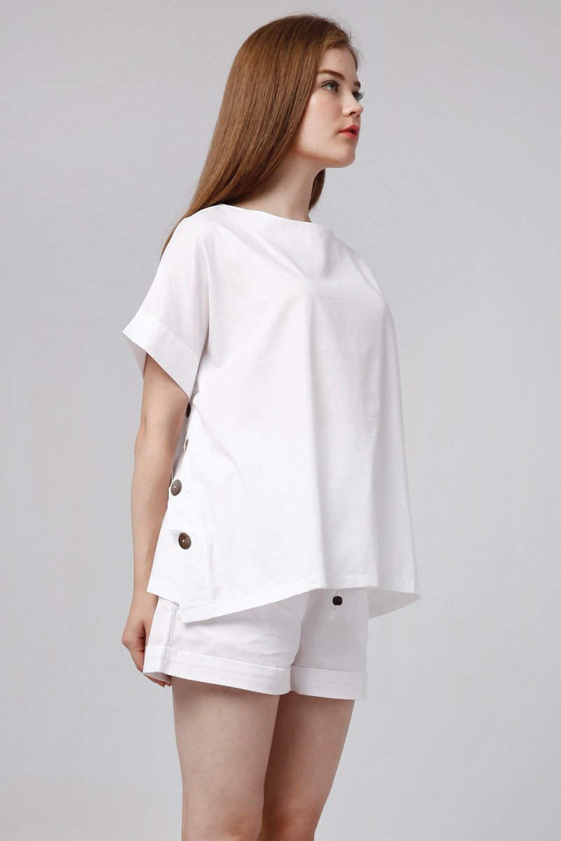 LIVIE LINEN TOP WHITE