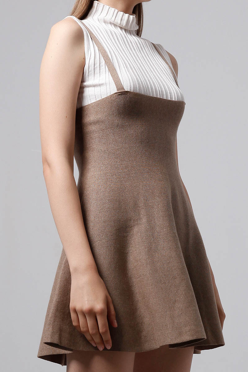 DANISH KNIT OVERALL BROWN