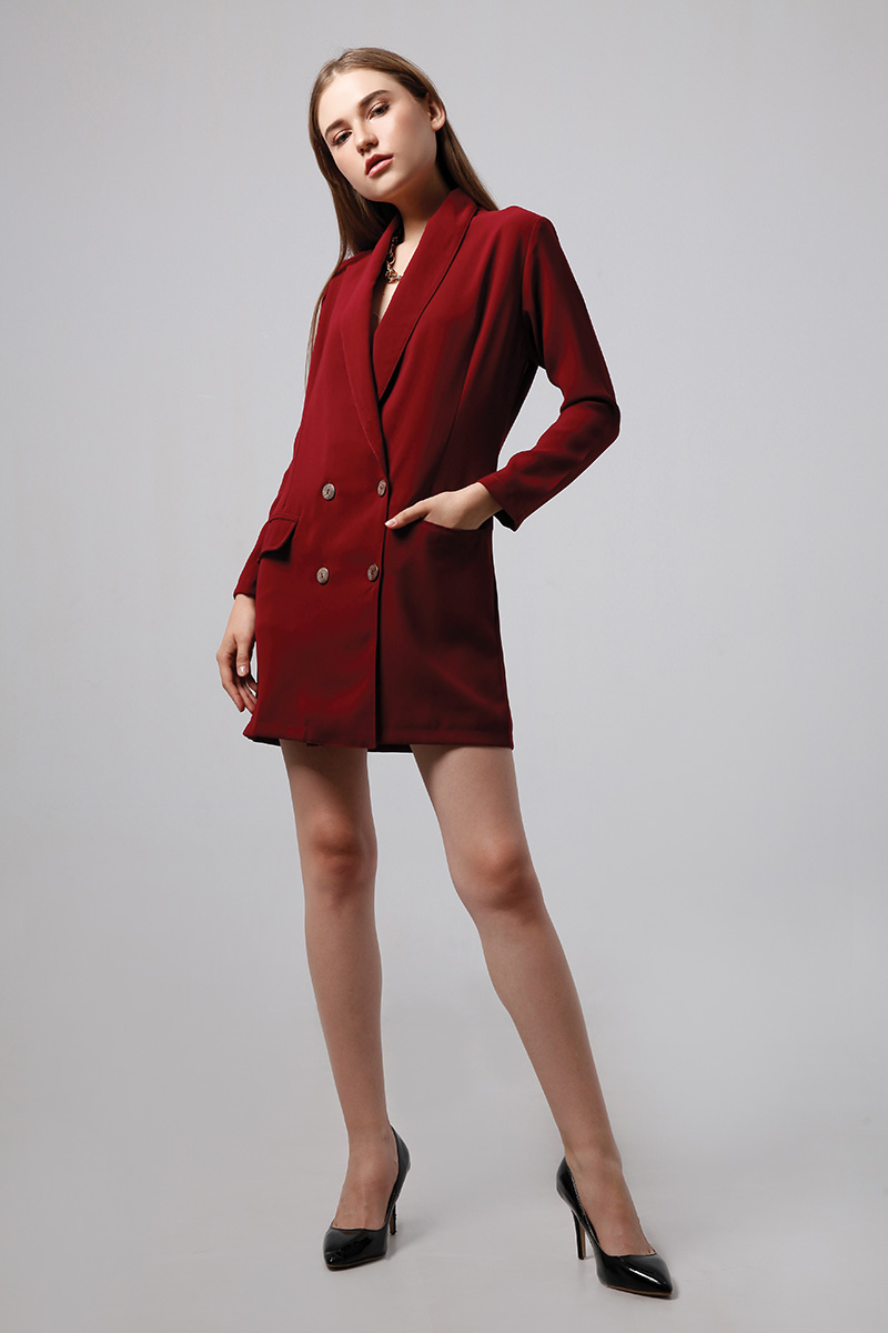 ABEEY DRESS MAROON