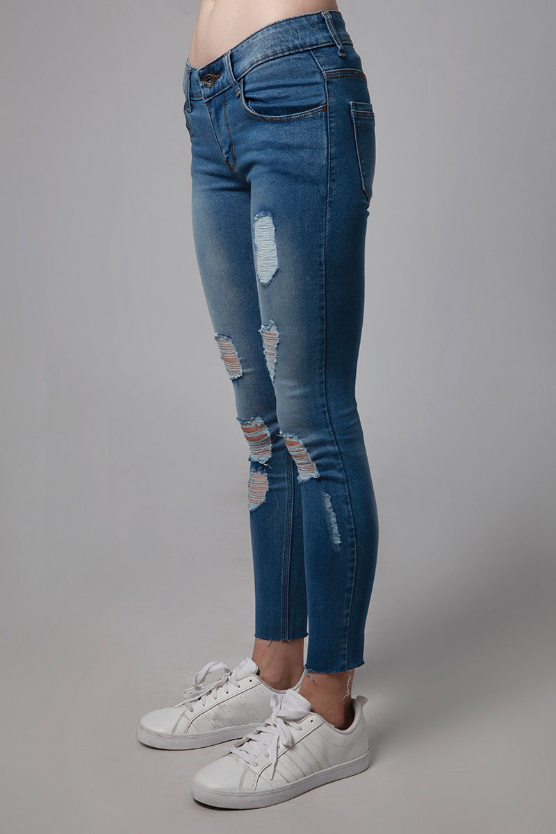 GRAZIE DENIM PANTS DARK BLUE