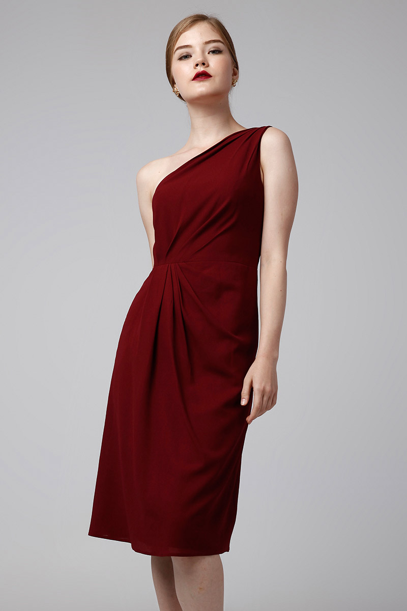 HERA DRESS MAROON