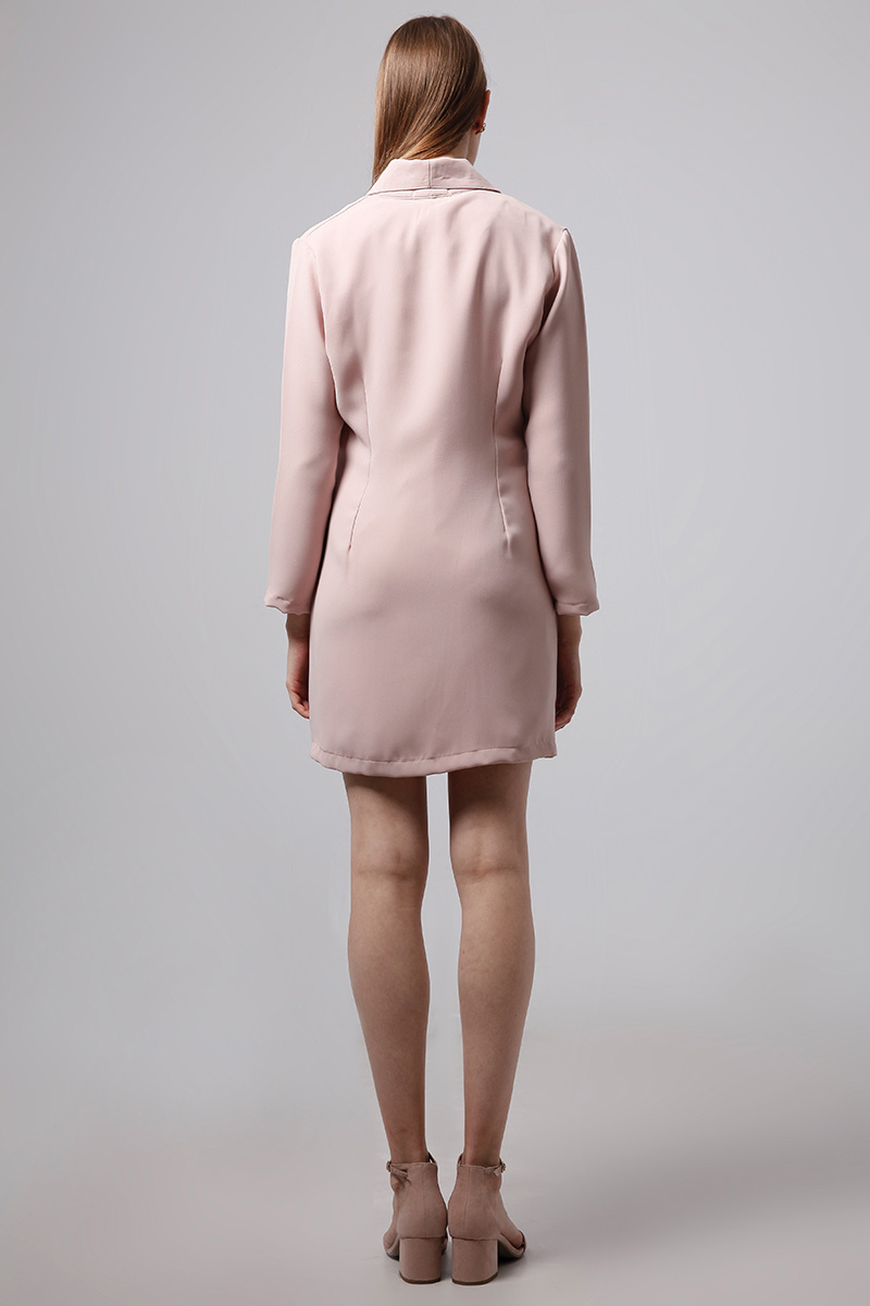 HOOK DRESS DUSTY PINK