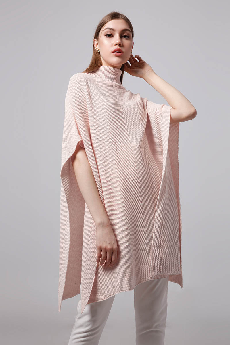 COREL CAPE KNIT BABY PINK
