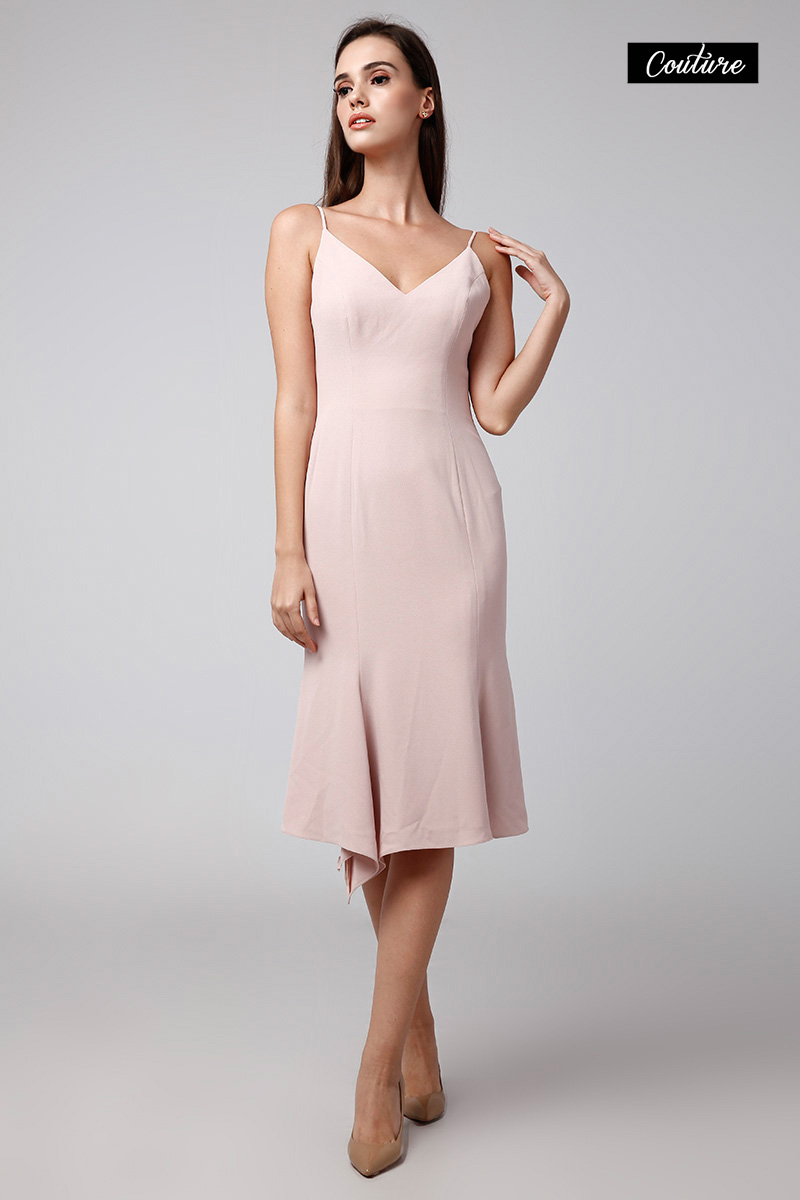 STEVIE DRESS DUSTY PINK