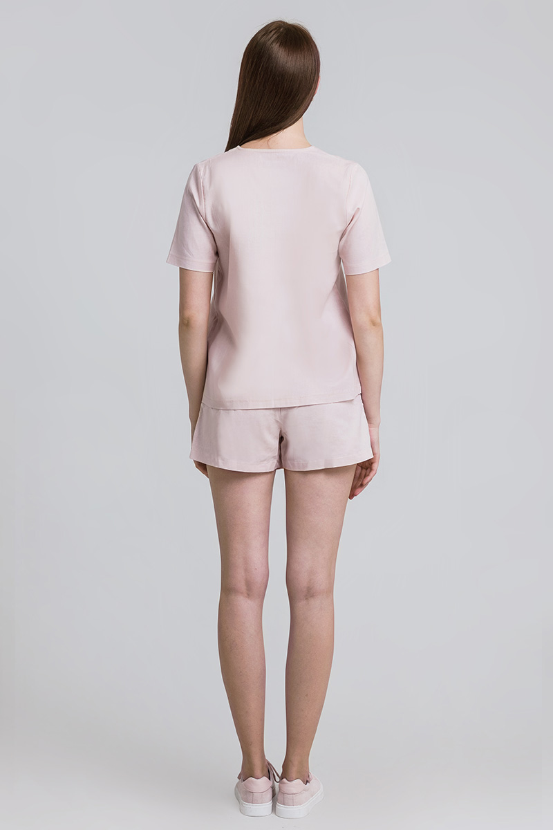 BOTANI LINEN TOP DUSTY PINK