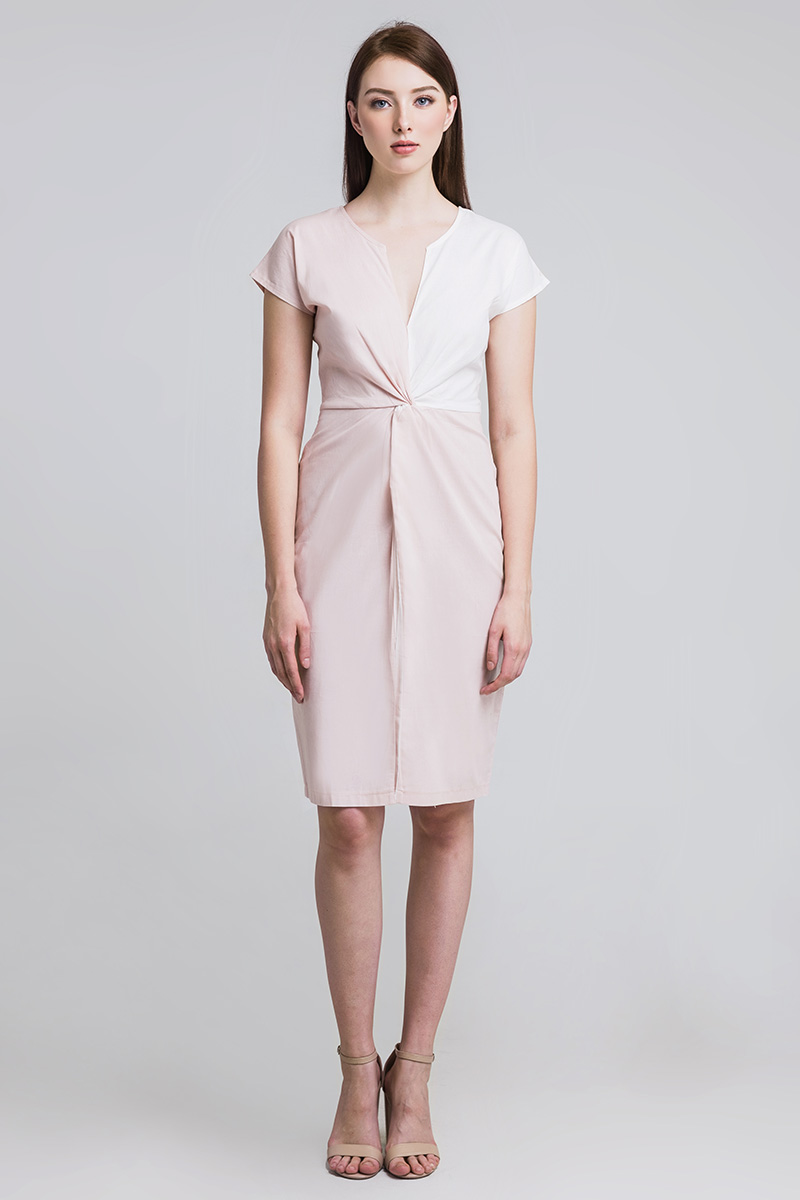 MAGNOLIA LINEN DRESS DUSTY PINK