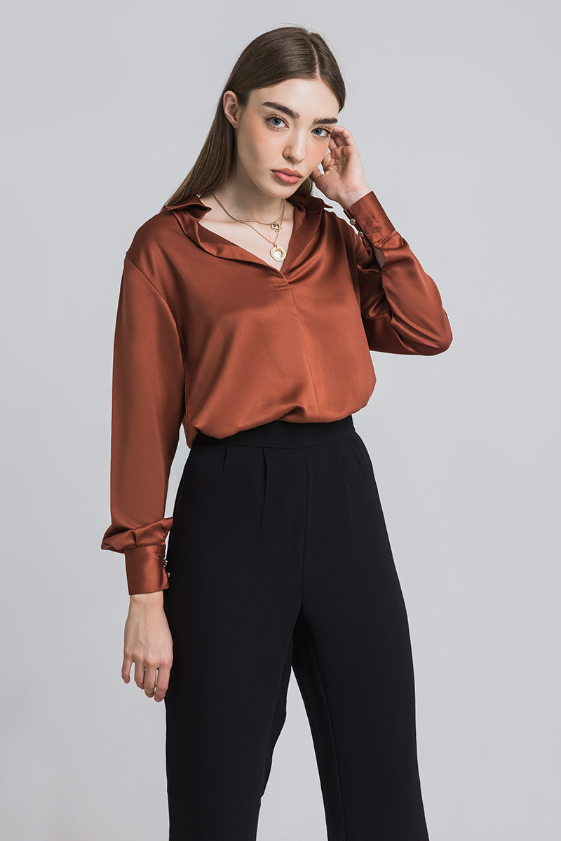 ATHENES SHIRT TERRACOTTA