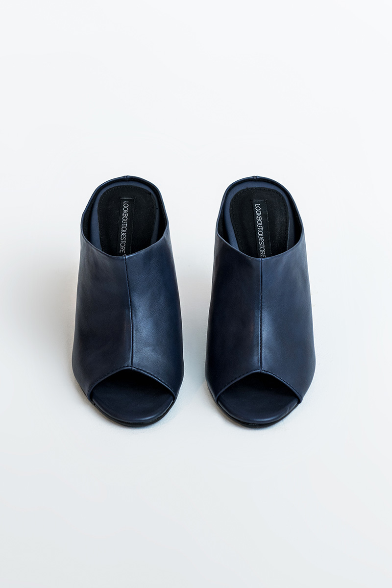 TAYLOR OPEN-TOE SHOES NAVY