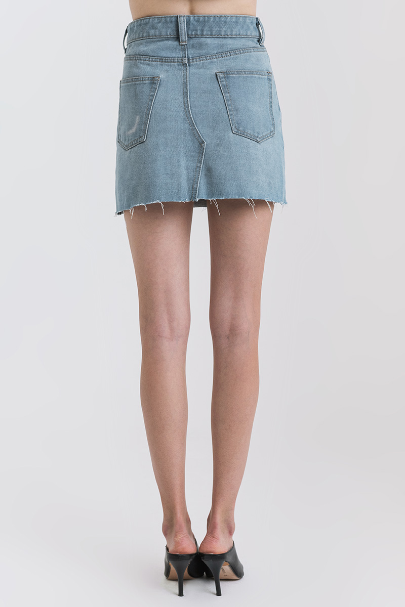 WARN DENIM SKIRT LIGHT BLUE