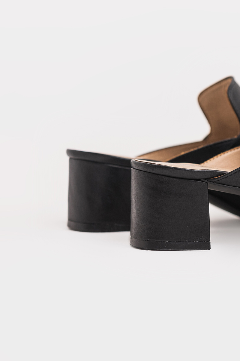 FRED LOAFER MULE BLACK
