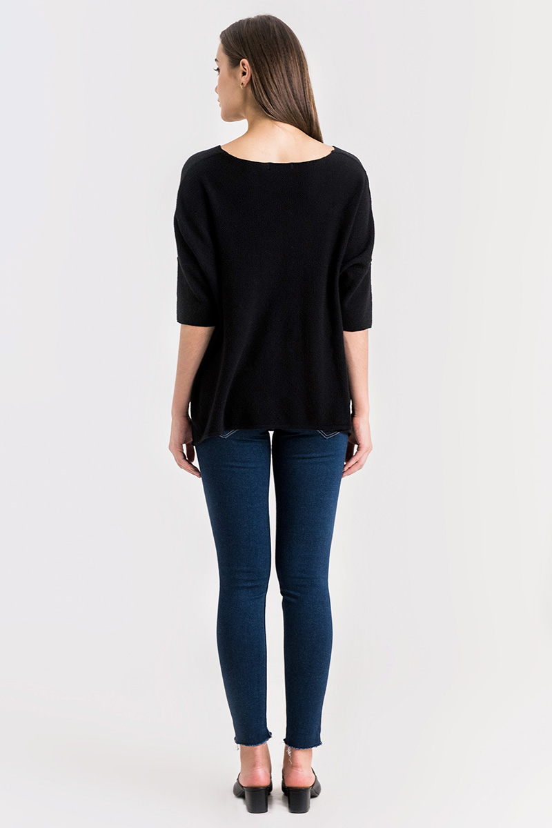 LEO KNIT TOP BLACK
