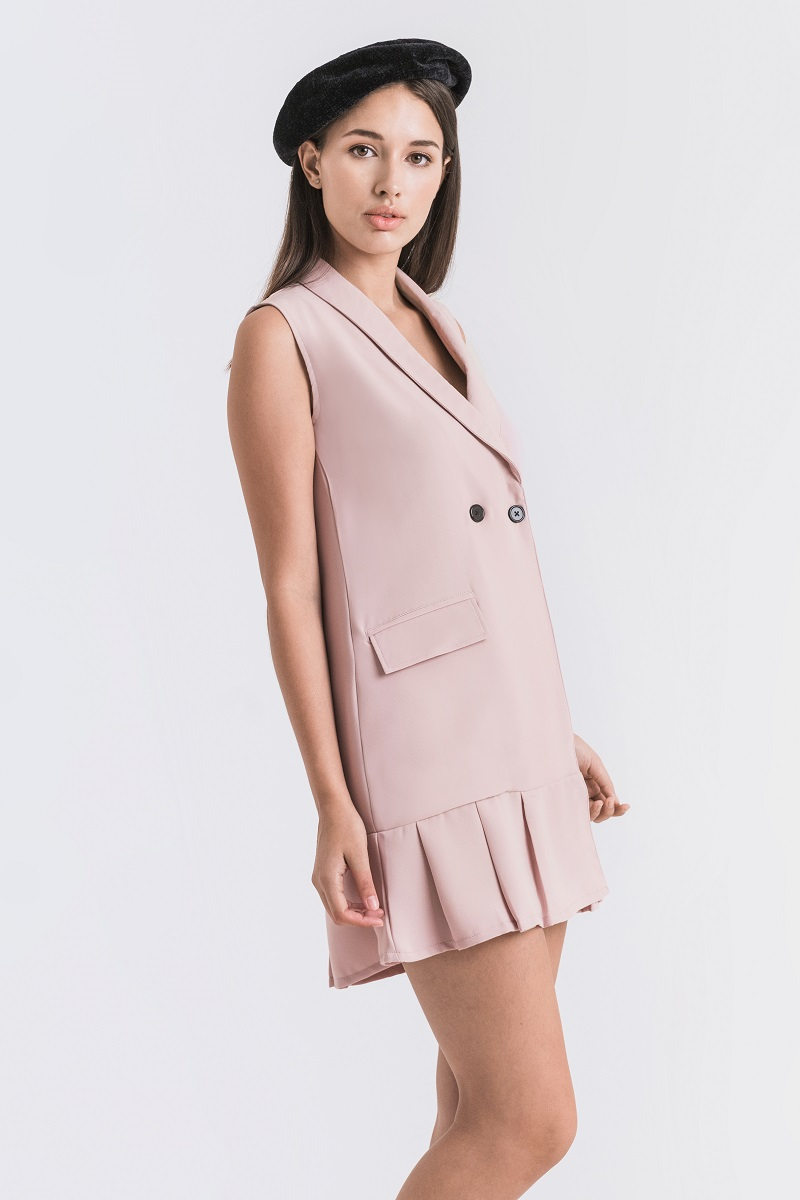 ACTON DRESS DUSTY PINK
