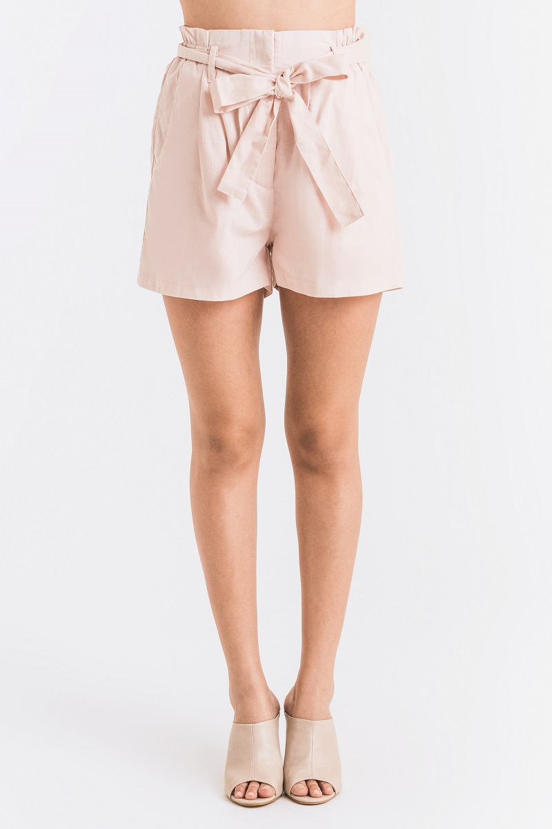 CLAY LINEN PANTS DUSTY PINK