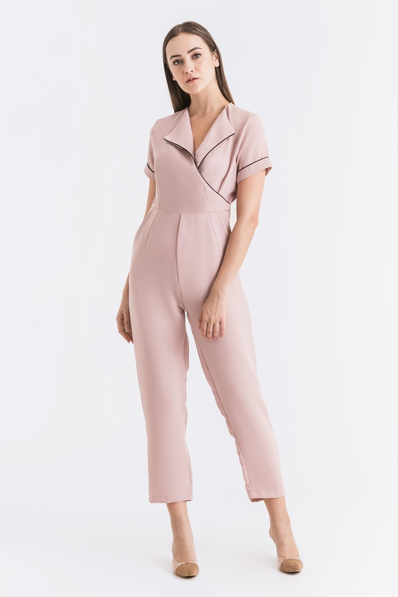 PRAGUE JUMPSUIT DUSTY PINK
