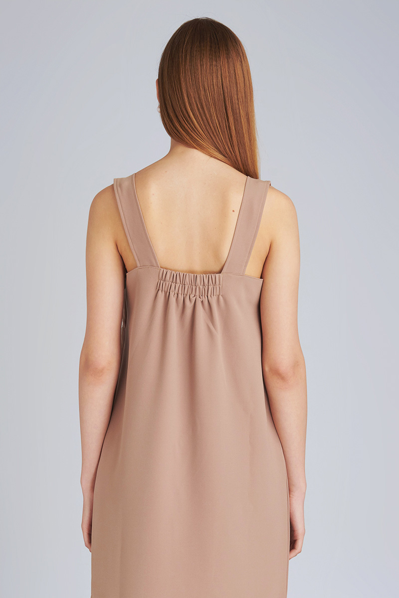 AMARY DRESS BROWN