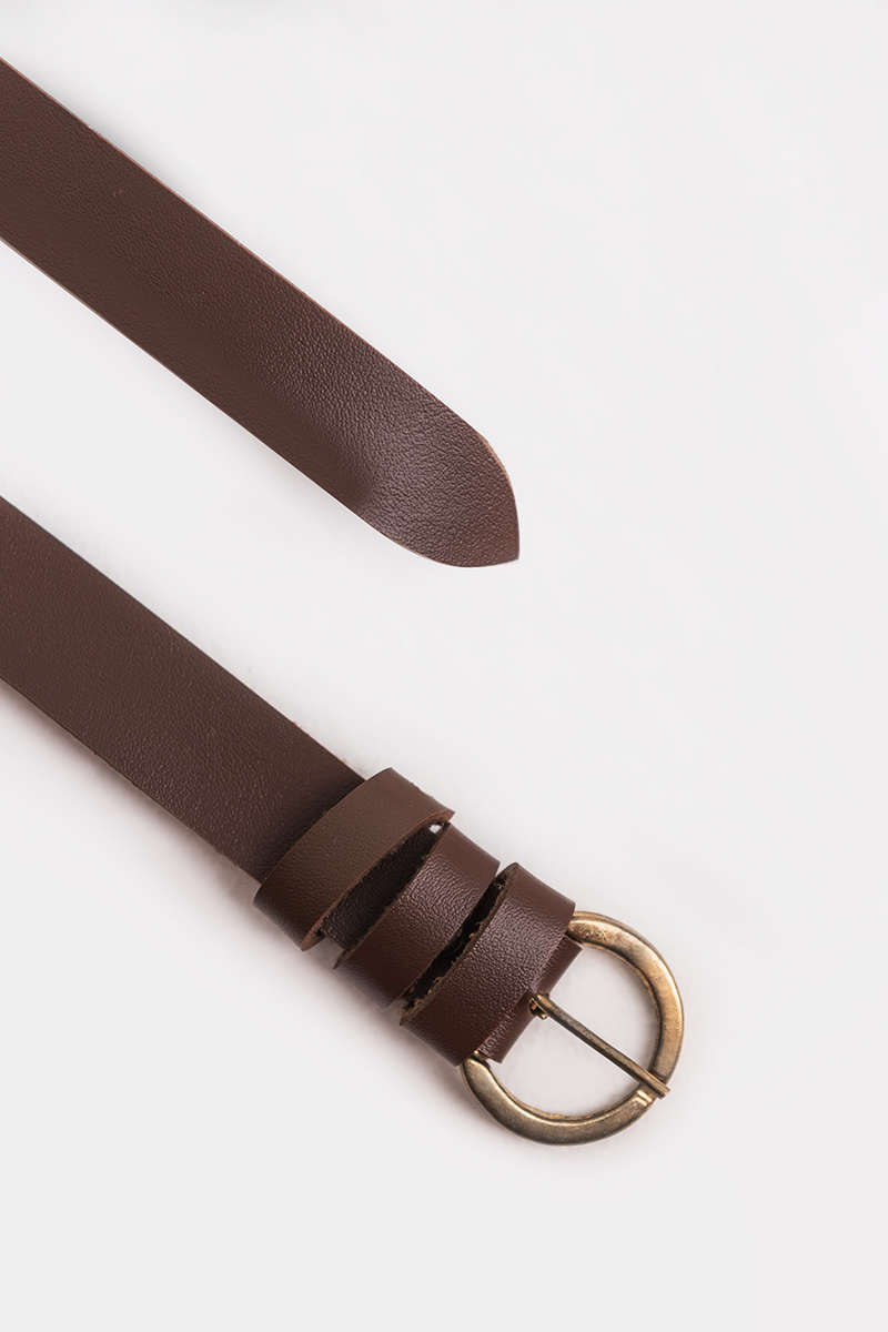 ELMAR ROUNDED BELT DARK BROWN