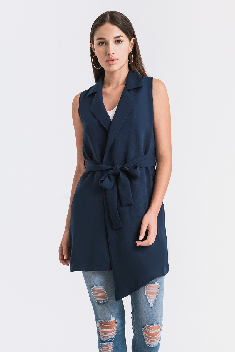 HARROW VEST DRESS NAVY