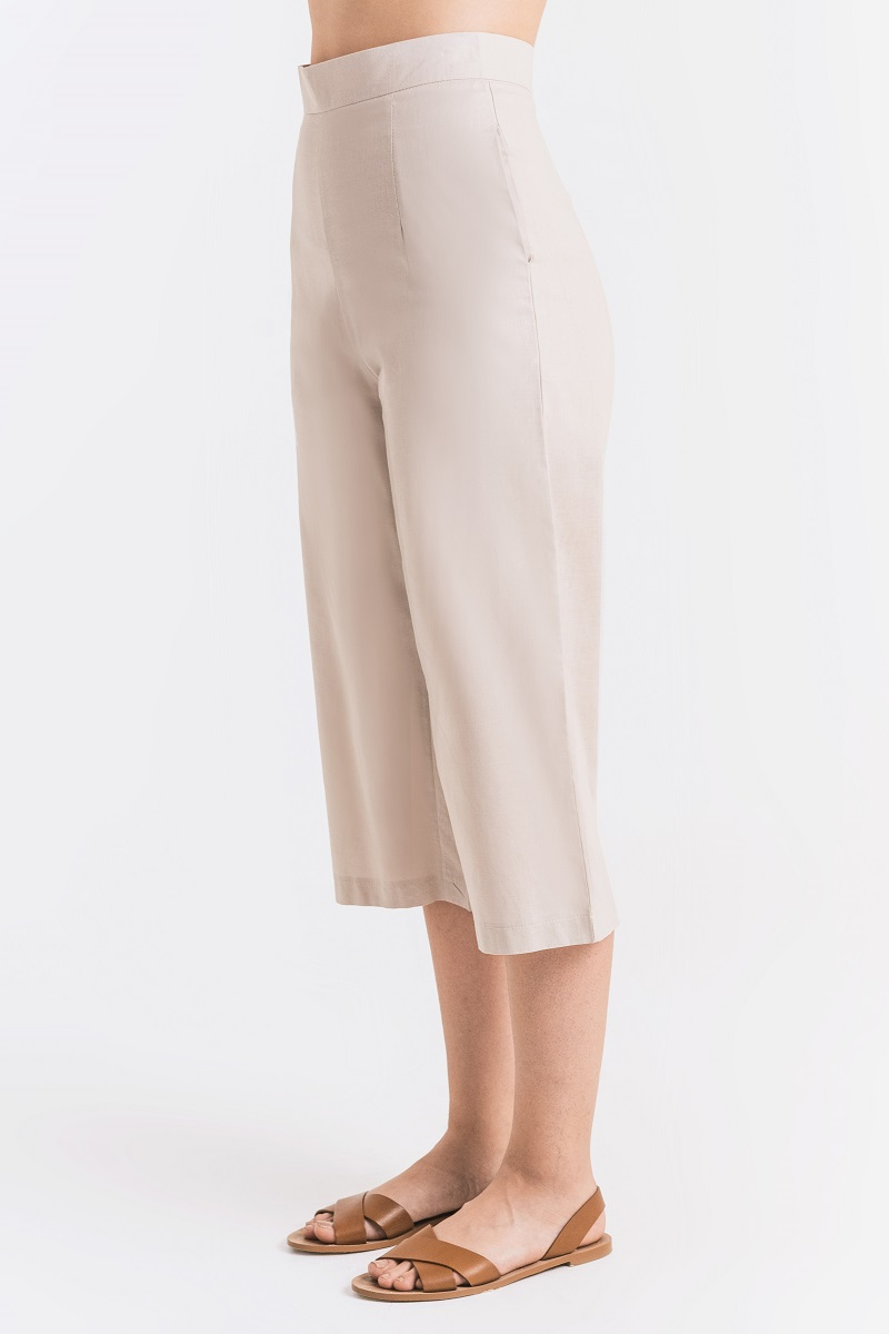 HINDI LINEN PANTS NUDE