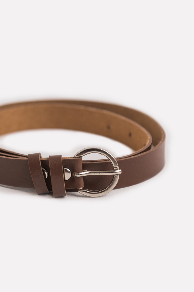 MIRIEL ROUNDED BELT BROWN