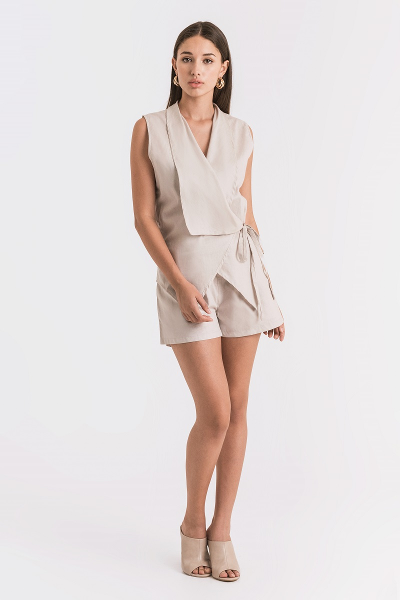 PEAL LINEN OUTER NUDE