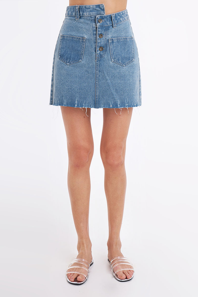 SONDA DENIM SKIRT BLUE