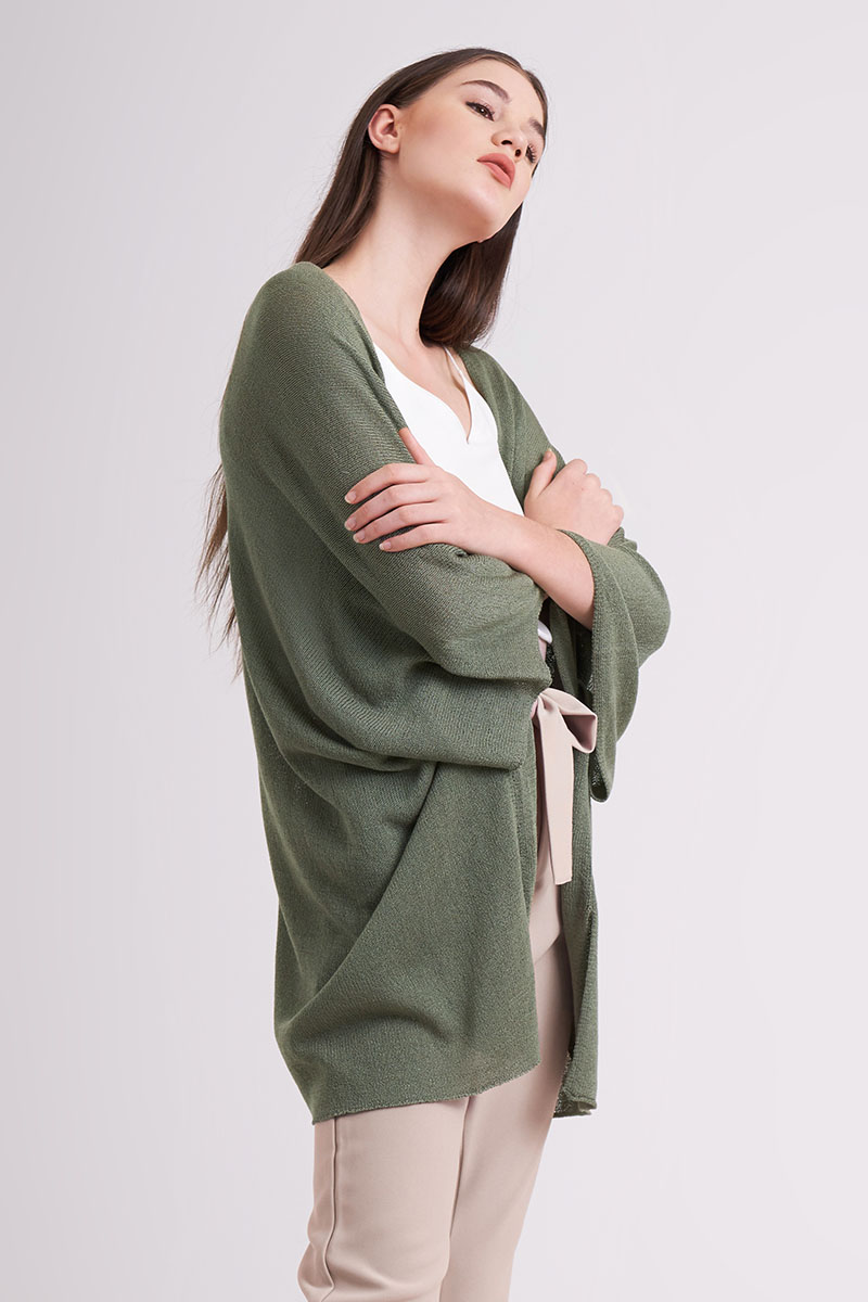AKINA KNIT OUTER OLIVE
