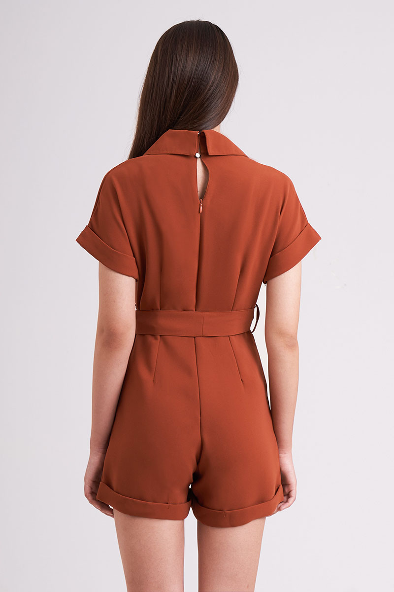 CORIN JUMPSUIT TERRACOTTA