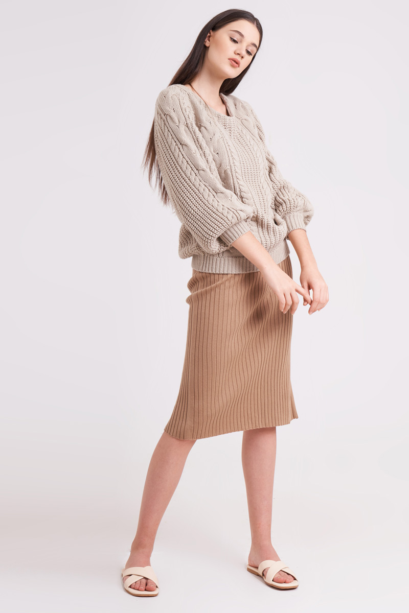KIREI KNIT SWEATER CREME
