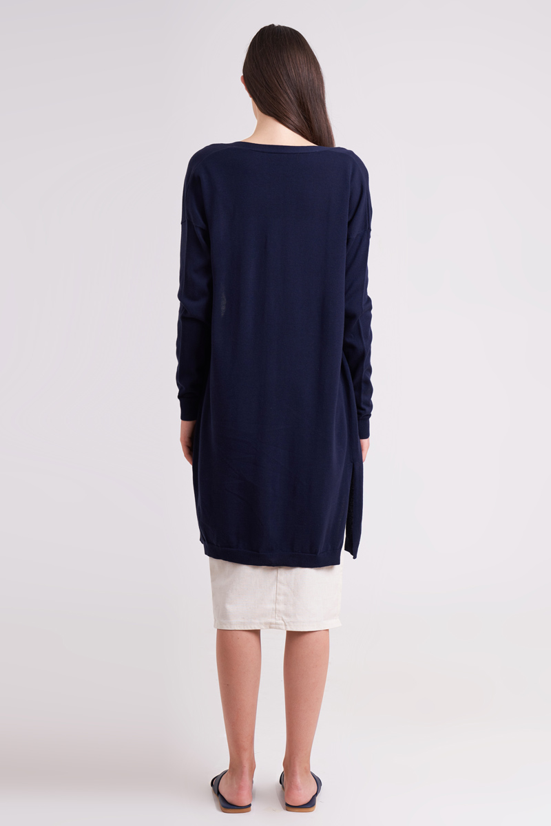 MARU KNIT OUTER NAVY