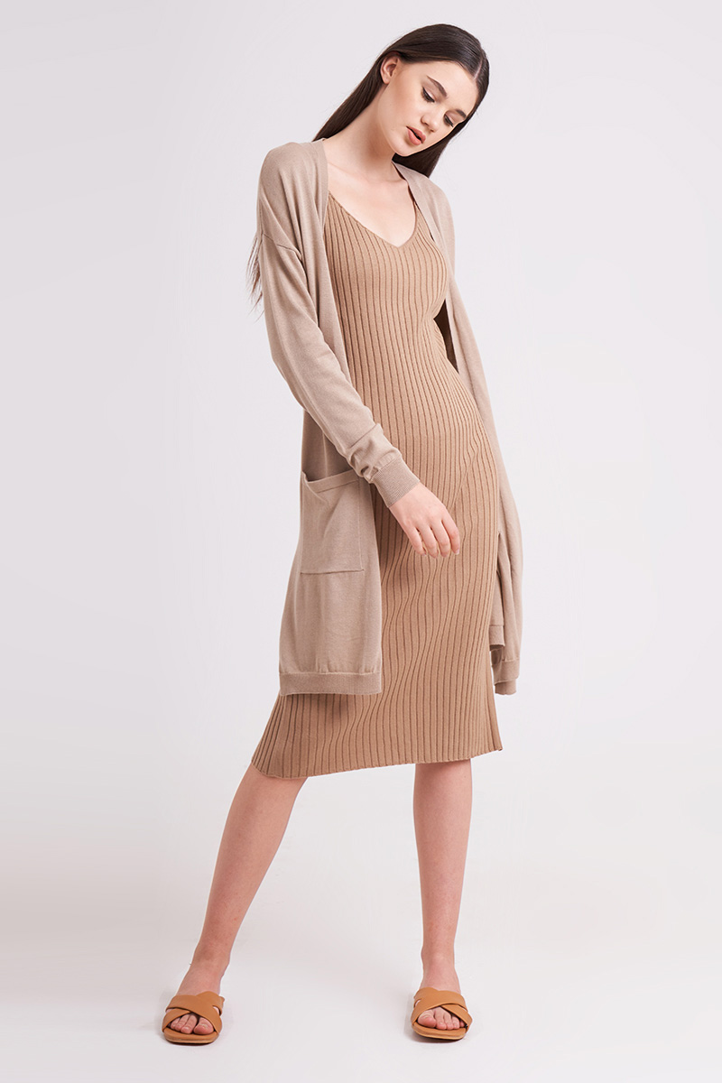 MARU KNIT OUTER NUDE
