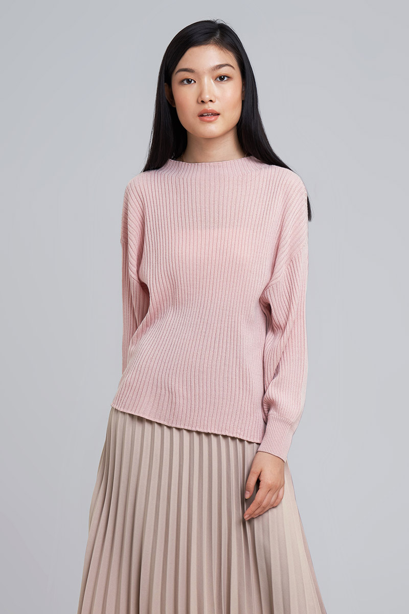 KEIKO KNIT TOP DUSTY PINK