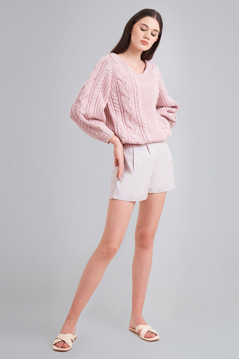 KIREI KNIT SWEATER BABY PINK