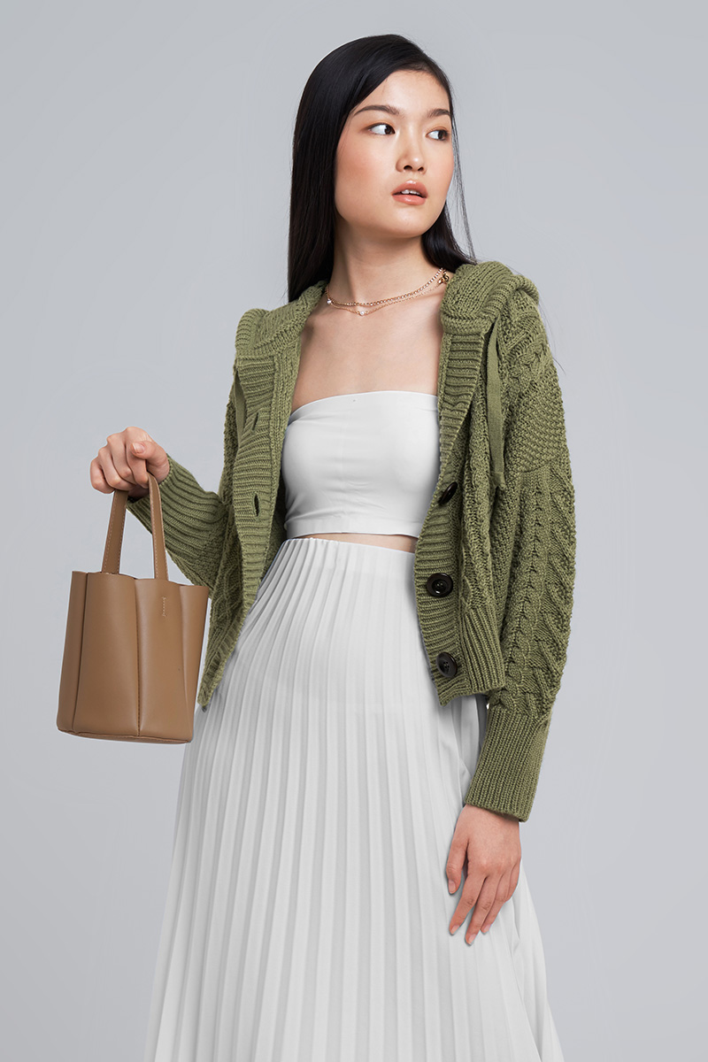 YOKO KNIT OUTER OLIVE