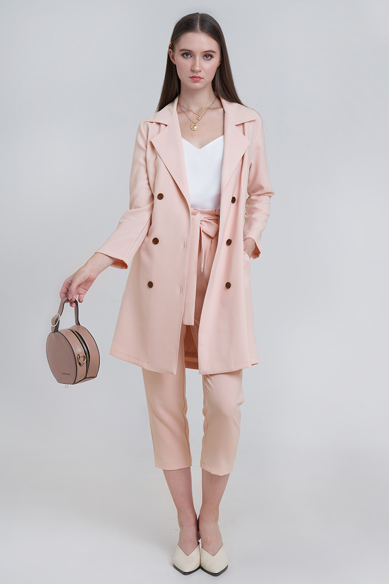 LANDY COAT SALMON