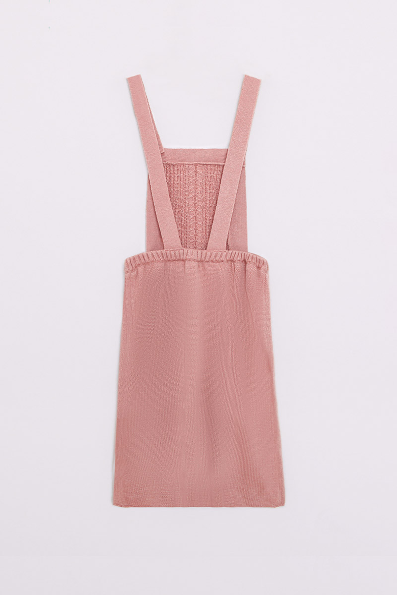 ETTA KNIT OVERALL DUSTY PINK