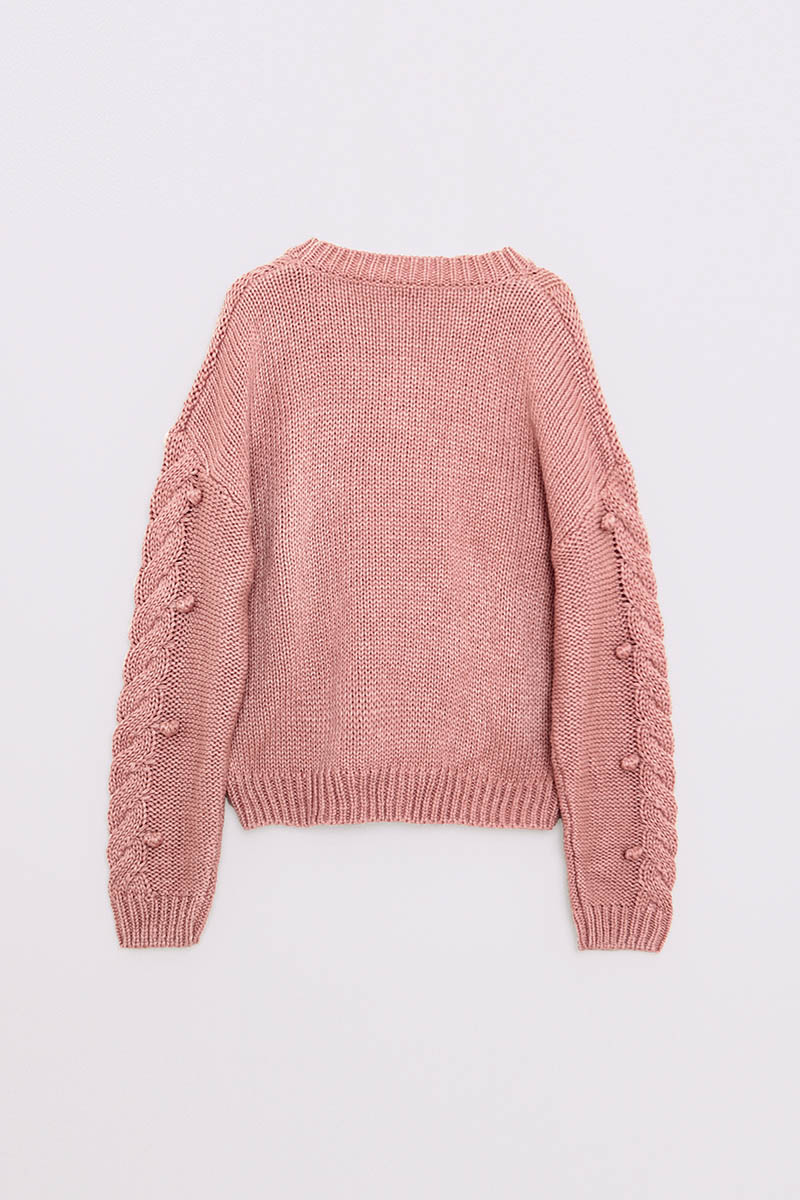 ODIE KNIT OUTER DUSTY PINK