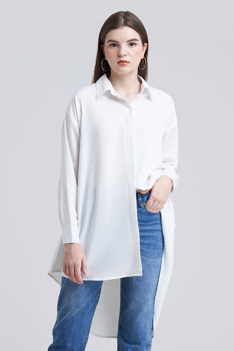 CLOY LOOSE TOP WHITE